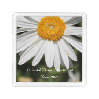 popular wild flower white daisy photography. serving tray