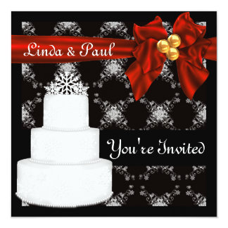 Popular WINTER Wedding  INVITATION With Snowflakes