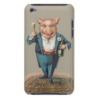 Porc Partying vintage drôle - unique animal mignon Coques iPod Case-Mate
