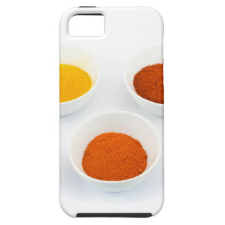 Porcelain bowls with several seasoning spices iPhone 5 covers