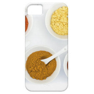 Porcelain bowls with various herbal spices iPhone 5 case
