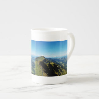 Porcelain cup of alps with upper baptism in the