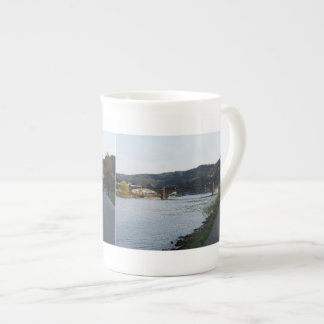 Porcelain cup of Cochem Moselle banks in the