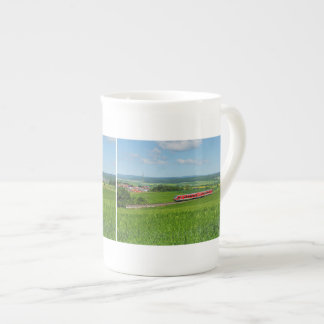 Porcelain cup of tramcars in the Ederbergland