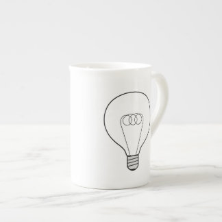 Porcelain cup with bulb