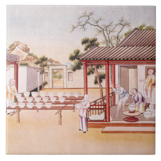 Porcelain Making (w/c on paper) Tile