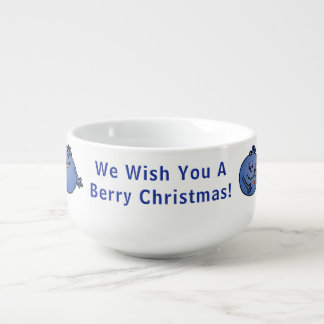 "Porcelain Mug Personalize ""Berry Christmas"""