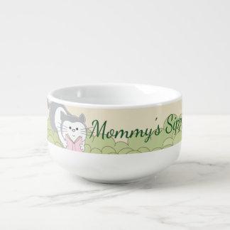 """Porcelain Mug Personalize """"StorybookPink Soup Mug"""""""