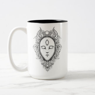 Porcelain Oracle Two-Tone Coffee Mug