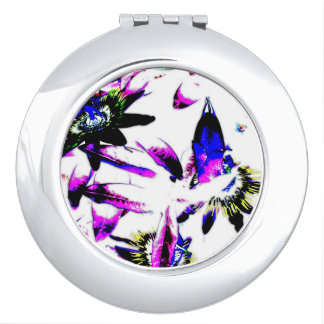 Porcelain Passiflora Flower - Compact Mirror