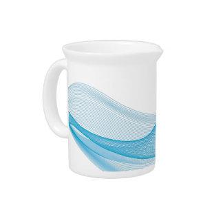 Porcelain Pitches (Jug) - Blue Wave Pitcher
