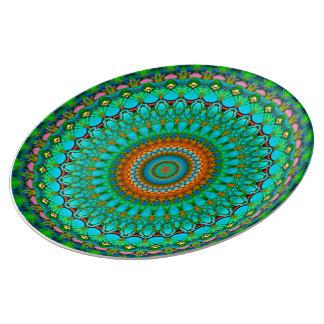 Porcelain Plate Geometric Mandala G388