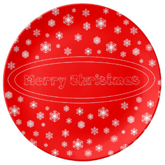 Porcelain plate Merry Christmas