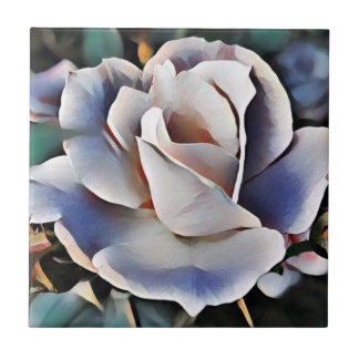 Porcelain Rose Tile