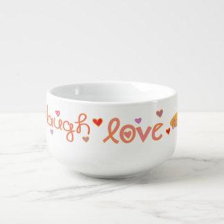 "Porcelain Soup Mug ""Laugh a Latke"""
