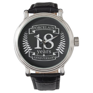 Porcelain traditional wedding anniversary 18 years wrist watches