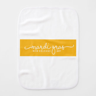[PORCH & DOG] • MARDI GRAS BABY - 2017 BURP CLOTH