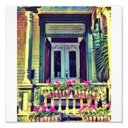 Porch Flowers Art Photo