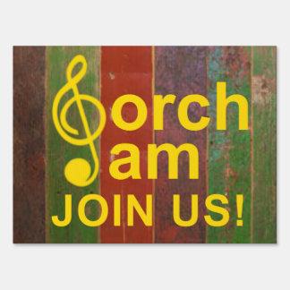 Porch Jams Yard Sign