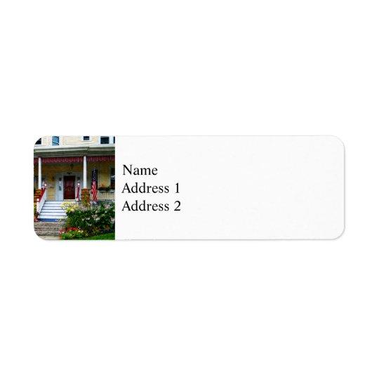 Porch With Front Yard Garden Return Address Label