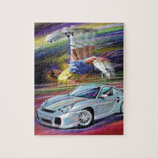 PORCHE AND FOOTBALL/SOCCER PLAYER JIGSAW PUZZLE
