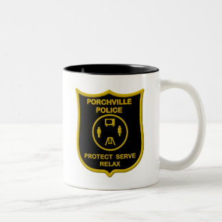 Porchville Police Two-Tone Coffee Mug