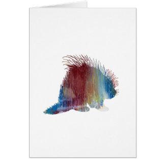 Porcupine Art Card