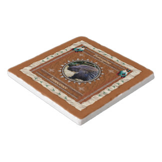 Porcupine  -Innocence- Marble Stone Trivet