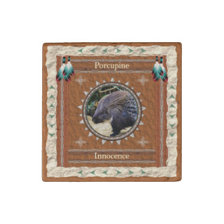 Porcupine  -Innocence- Primed Marble Magnet