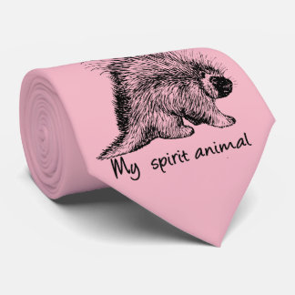 Porcupine  is my spirit animal. tie