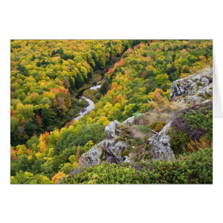 Porcupine Mountains Autumn Color Card
