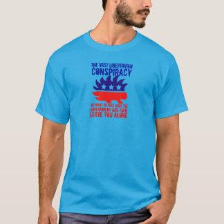 Porcupine Vast Libertarian Conspiracy T-Shirt