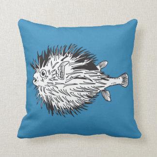 porcupinefish  aka blowfish throw pillow