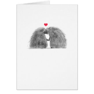 Porcupines in Love Anniversary Card