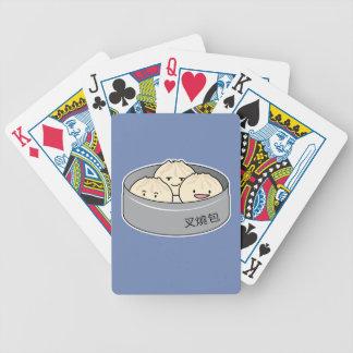 Pork Bun dim sum Chinese breakfast steamed bbq bun Bicycle Playing Cards