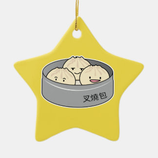 Pork Bun dim sum Chinese breakfast steamed bbq bun Ceramic Ornament