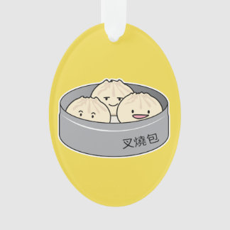 Pork Bun dim sum Chinese breakfast steamed bbq bun Ornament