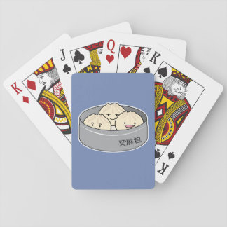 Pork Bun dim sum Chinese breakfast steamed bbq bun Playing Cards