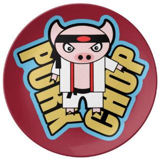 Pork Chop Porcelain Plate