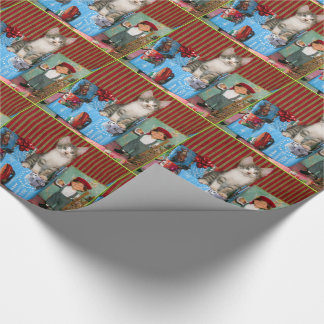 Pork Chop's Christmas Wrapping Paper (kitten)