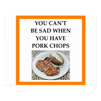 pork chops postcard