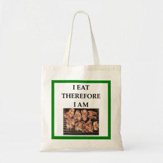 pork chops tote bag