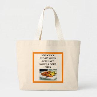 pork large tote bag