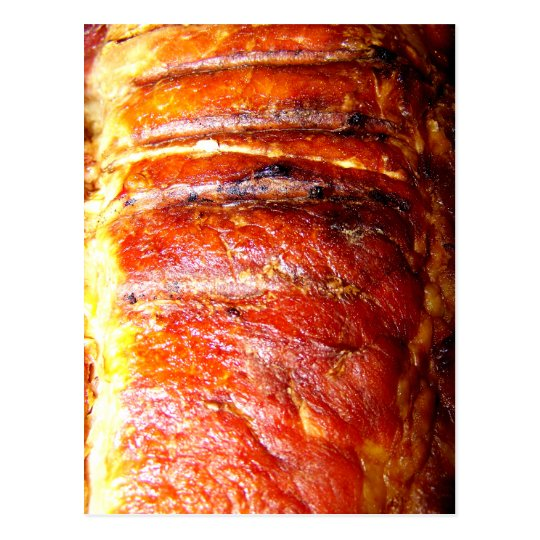 Pork Loin Roast Photo Postcard
