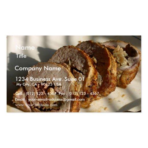 Pork Loin Stuffed Business Cards