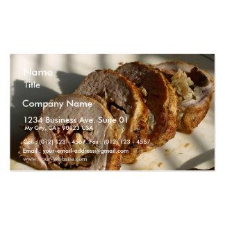 Pork Loin Stuffed Pack Of Standard Business Cards