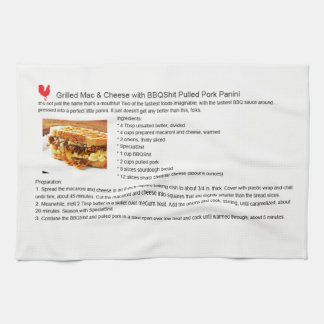 Pork Mac Cheese Panini Kitchen Towel