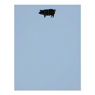 Pork Meat Cuts Butcher Shop Gifts Letterhead