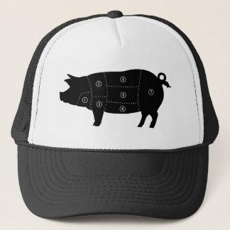 Pork Meat Cuts Butcher Shop Gifts Trucker Hat