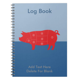 Pork Meat Cuts Chef Cook Pig Chart Notebook
